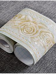 Fleur Fond d'écran pour la maison Contemporain Revêtement , PVC/Vinyl Matériel Ruban Adhésif fond d'écran , Couvre Mur Chambre