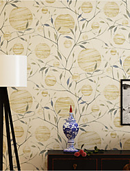 Print Wallpaper For Home Modern/Contemporary Wall Covering , Non-woven paper Material Adhesive required Wallpaper , Room Wallcovering