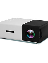 cheap -YG300 LCD Mini Projector 400lm lm Other Support 1080P (1920x1080) 20-120inch inch Screen