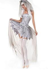 abordables -Squelette / Crâne Zombie Mariée Costumes de Cosplay Halloween Le jour des morts Fête / Célébration Déguisement d'Halloween Mode