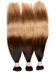 abordables -A Ombre Cheveux Brésiliens Raide 12 mois 3 tissages de cheveux kg Mèches Rapides