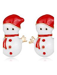 Недорогие -Жен. Детские Серьги-гвоздики Мода Chrismas Стразы Сплав Бижутерия Назначение Рождество Новый год