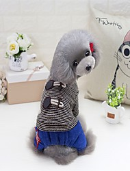 Gato Perro Abrigos Suéteres Saco y Capucha Mono Vestidos Pijamas Ropa para Perro Fiesta Casual/Diario Mantiene abrigado Deportes Año
