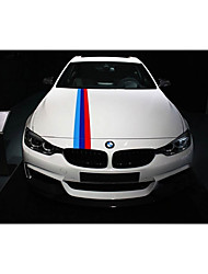 cheap -M-Colored Front Bumper Sticker Stripe Decal Sticker For BMW Hood