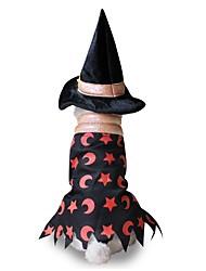 Gato Perro Disfraces Ropa para Perro Fiesta Cosplay Halloween Estrellas Negro Disfraz Para mascotas
