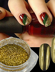 abordables -1 g / botella hermosa oro espejo brillo polvo holográfico pigmento shinny