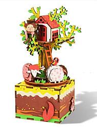 Kit de Bricolage Boîte à musique Jouets Carré Cheval Dessin Animé Romantique 1 Pièces Non spécifié Anniversaire Cadeau
