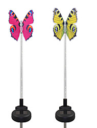 2pcs fibra solare fibra ottica / color-changing garden light-butterfly