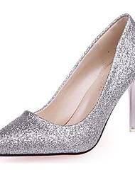 preiswerte -Damen Schuhe Paillette Herbst Pumps High Heels Stöckelabsatz Spitze Zehe Paillette Für Normal Gold Schwarz Silber