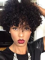 economico -Donna Parrucche sintetiche Senza tappo Pantaloncini Riccio Kinky Curly Afro Nero Parrucca riccia stile afro Per donne di colore Parrucca