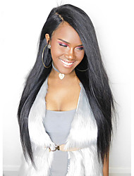 cheap -Pre Plucked 360 Lace Frontal Wig Peruvian Straight Human Hair Wigs For Black Women Swiss Lace Front Wig 10''-24'' In Stock