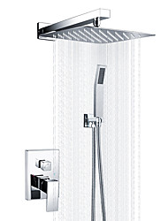 cheap -Modern/Contemporary Shower System Rain Shower Handshower Included Ceramic Valve One Hole Chrome, Shower Faucet
