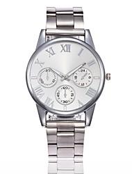 abordables -Hombre Mujer Cuarzo Reloj creativo único Reloj de Pulsera Reloj de Vestir Reloj de Moda Chino Gran venta Aleación Banda Casual Plata