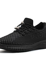 Homme Chaussures d'Athlétisme Confort Automne Hiver Similicuir Marche Décontracté Elastique Noir Plat