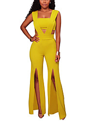 cheap -Women's Party Club Casual Sexy Solid Deep V Jumpsuits