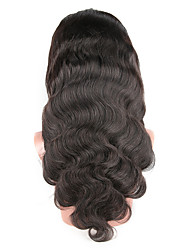 cheap -Human Hair Glueless Lace Front / Lace Front Wig Brazilian Hair Body Wave Wig 130% African American Wig / 100% Hand Tied Women's Medium Length Human Hair Lace Wig