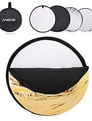 Andoer 24 60cm Disc 5 in 1 (Gold Silver White Black Translucent) Multi Portable Collapsible Photography Studio Photo Light Reflector
