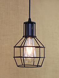 Pendant Light  Rustic/Lodge Antique Vintage Retro Painting Feature for Mini Style Metal Kitchen Entry Shops/Cafes 1 Bulb