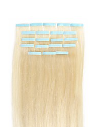 Tape In Human Hair Extensions 16-24 Inch 20pcs 30-50g/pack Slilky Straight Seamless Skin Weft Remy Color To Choose