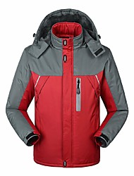 cheap -Men's Hiking Jacket Outdoor Winter Windproof Rain-Proof Wearable Breathability Winter Jacket Top Full Length Visible Zipper Camping /