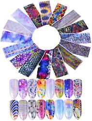 Недорогие -16 Блеск С рисунком 3D-стикеры для ногтей Стикер Комплектующие Аксессуары Компоненты для самостоятельного изготовления 3-D Мода