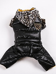 Dog Coat Sweatshirt Clothes/Jumpsuit Dog Clothes Casual/Daily Keep Warm Sports Leopard Red Yellow Orange