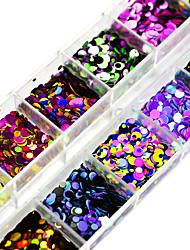 Недорогие -12Colors/box Гель для ногтей Пайетки Элегантный и роскошный Пайетки Блеск и сияние Дизайн ногтей