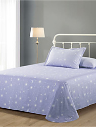 cheap -Comfortable Poly/Cotton Flat Sheet Plain Nature Printed 300 Tc 1pc Flat Sheet 2pcs Pillowcases Printed
