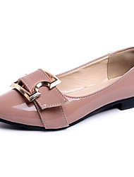cheap -Women's Shoes PU Spring Summer Comfort Flats Flat Heel Pointed Toe For Party & Evening Dress Blushing Pink Black White