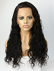 cheap -Women Human Hair Lace Wig Brazilian Remy Glueless Lace Front 180% 150% Density Layered Haircut Water Wave Wig Black Short Medium Long