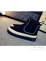 Women's Shoes Suede Fall Winter Fluff Lining Comfort Boots Low Heel Round Toe Mid-Calf Boots Tassel For Casual Outdoor Khaki Gray Black