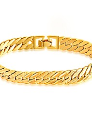 Men's Chain Bracelet Bracelet Jewelry Fashion Simple Style Stainless Steel Gold Plated Line Jewelry For Daily Casual