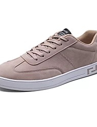 cheap -Men's Shoes Linen Spring Fall Comfort Athletic Shoes Walking Shoes Lace-up For Casual Black Red Light Gray Blushing Pink