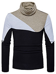 cheap -Men's Long Sleeves Pullover - Color Block