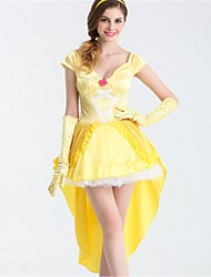 abordables -Belle Costume de Cosplay Halloween Fête / Célébration Déguisement d'Halloween Jaune Mode