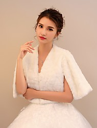 Faux Fur Wedding Party/ Evening Women's Wrap With Pattern / Print Capelets