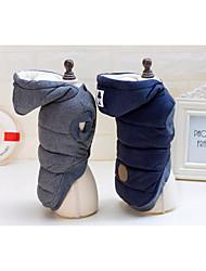 preiswerte -Hund Mäntel Hundekleidung Lässig/Alltäglich warm halten Solide Grau Blau Kostüm Für Haustiere