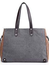 Women Bags All Seasons Canvas Shoulder Bag Zipper for Blue Black Gray Purple