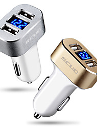Scud Car Charger Fast Charge Display Voltage 2 USB Ports 3A DC 12V-24V