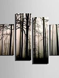 Недорогие -Холст для печати 4 панели холст Вертикальная С картинкой Декор стены Украшение дома