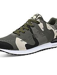 Da donna Sneakers Comoda Primavera Autunno Tulle Casual Lacci Piatto Verde militare 5 - 7 cm