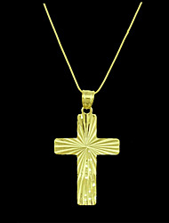 Per uomo Ciondoli A croce Placcato in oro Metallo bigiotteria Gioielli Per Quotidiano
