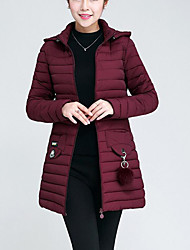 cheap -Women's Plus Size Faux Fur Long Padded - Solid