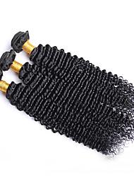 Недорогие -Бразильские волосы Kinky Curly Классика Ткет человеческих волос 3 Высокое качество Человека ткет Волосы Повседневные