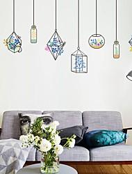 Floreale/Botanical Romanticismo Moda Adesivi murali Adesivi aereo da parete Adesivi decorativi da parete Materiale Decorazioni per la casa