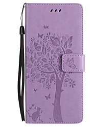 cheap -Case For Samsung Galaxy Note 8 Wallet Card Holder with Stand Flip Embossed Full Body Cat Butterfly Tree Hard PU Leather for Note 8 Note 5