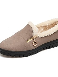 Women's Shoes Customized Materials Winter Mary Jane Fur Lining Novelty Loafers & Slip-Ons Flat Heel Low Heel Round Toe Closed Toe