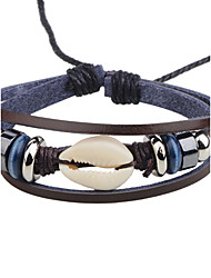 cheap -Men's Women's Leather Bracelet Fashion Personalized Leather Round Jewelry For Casual Club