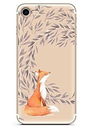 abordables -Funda Para Apple iPhone X iPhone 8 Ultrafina Transparente Diseños Cubierta Trasera Animal Caricatura Suave TPU para iPhone X iPhone 8
