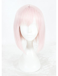 cheap -Synthetic Wig Straight Braided Wig Pink Women's Capless Cosplay Wig Short Synthetic Hair
